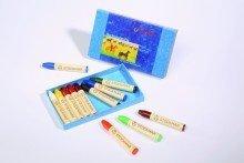 12 matite a cera in scatola