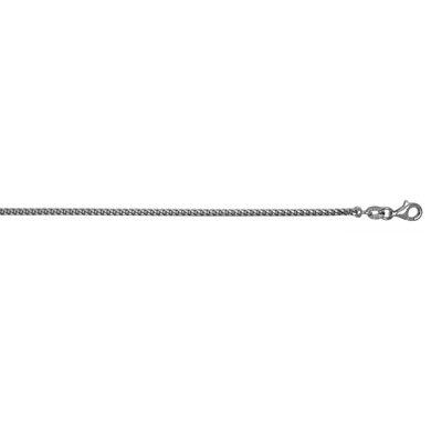 18ct oro bianco 2mm Franco Catena Collana-lunghezza Opzioni: 4146516176, Oro bianco, colore: bianco, cod. HCN95353W