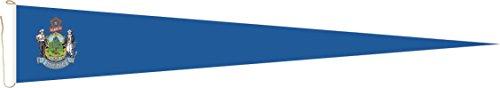 Haute Qualité pour U24 Long Fanion Maine Drapeau 250 x 40 cm