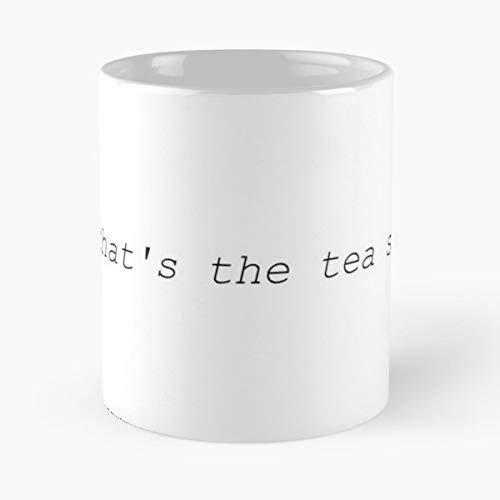 Tea Wig Meme Funny Cute Phone Case Black And White Cup Sis - Best 11 Ounce Ceramic Coffee Mug Gift