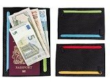 GATE8 Multi Currency Travel, Money & Passport Wallet - 4 seperate compartments for different currencies