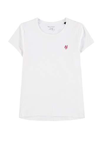 Marc O' Polo Kids Mädchen 1/4 Arm T-Shirt, Weiß (Bright White 1000), 134 -