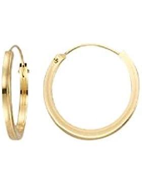*585 Gold Damen Herren Kinder Ohrringe Ohrschmuck Creolen 1,5x12mm*