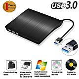 External DVD Drive Burner USB 3.0 Slim Portable External DVD R/W Burner Writer DVD CD ROM Drive for Windows Laptop