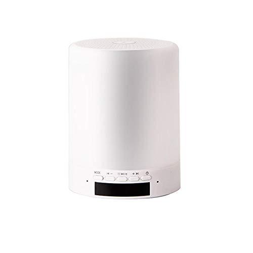 Nachttischlampe Tragbare Drahtlose mit Bluetooth-Lautsprecher Berührungssensor Dimmbar (3-stufig Warmweißes Licht und Sechs Farbwechsel) Farbe LED, Baby Schlafzimmer Lesen Camping -
