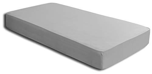one-home Spannbettlaken Silber 140×200 cm – 160×200 cm Microfaser Spannbetttuch