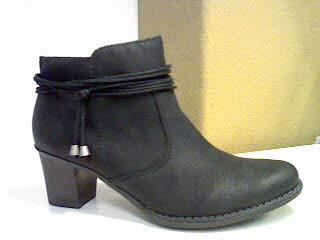 Rieker Damen Ankle Boots L7669,Frauen Stiefel,Ankle Boot,Halbstiefel,Damenstiefelette,Bootie,knöchelhoch,Trichterabsatz 5.7cm,schwarz, EU 41