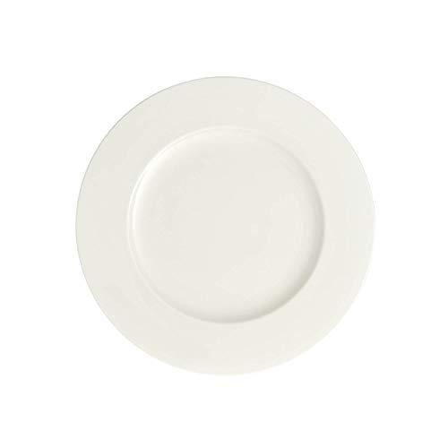 Villeroy & Boch Royal Grande assiette petit déjeuner, 24 cm, Porcelaine Premium Bone, Blanc