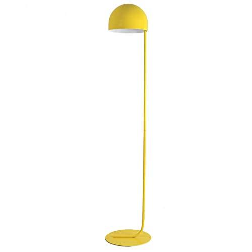 WPCBAA Lámpara de pie de Arte Minimalista, Pantalla semicircular, Sala de Estar Moderna, Sala de Estar, lámpara de Oficina E27 lámpara de Estudio de Lectura Junto a la Cama (Color : Amarillo)