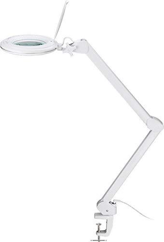Goobay LED dimmbare Lupenleuchte, 1-9W; 127mm Glaslinse, 1,75x Vergrößerung, 3 Dioptrien, 860...