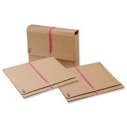 Brand New. 5 Star Legal Wallet with 914mm Tie Tape Gusset 51mm Foolscap 337x257mm [Pack 25]
