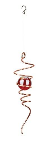 yclone Schwanz Wind Spinner, 28cm lang, Kupfer mit Rot Marmor ()