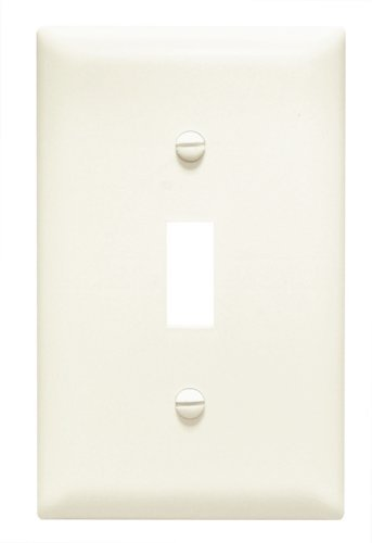 Pass & Seymour TPJ1LACC70 Trade Master Jumbo Wall Plate with One Toggle Switch Opening, One Gang , Light Almond by Pass & - Light Wall Almond Plate