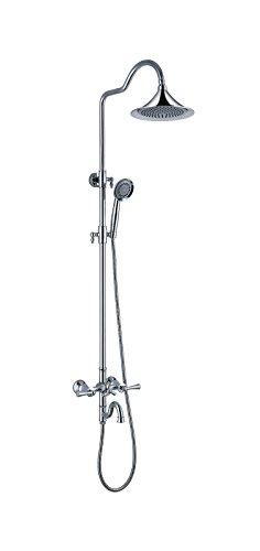 Dark Suite (ZHFC-insbesondere duschen Wasserhahn Europa Kupfer Dark dusche Suite 3 Funktion rain Shower tragbare dusche Kopf,b)