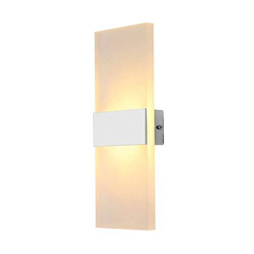 Heaviesk LED-Wandleuchte Licht Bettbeleuchtung Persönliche ultradünne Acryl-Wandhalterung aus Aluminium mit Rechteckform