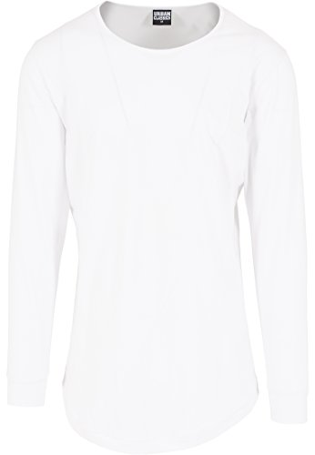 Urban Classics TB1101 Herren Langarmshirt Shaped Fashion Long Sleeve Tee weiß (Weiß) Medium (Probleme Mens Tee)