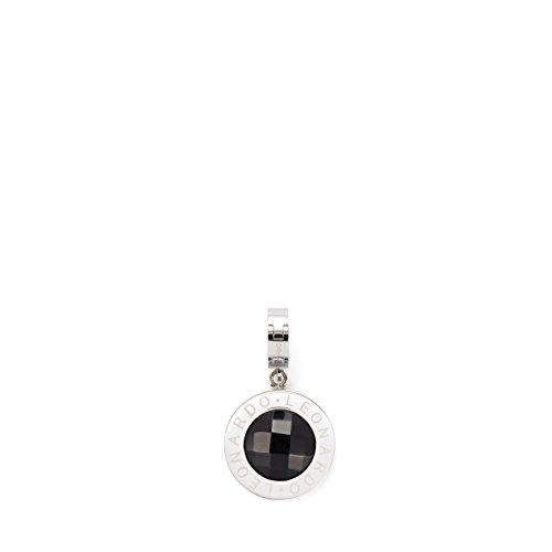 JEWELS BY LEONARDO DARLIN'S Damen-Anhänger Matrix schwarz, Edelstahl mit Glasstein & Maxi-Clip, CLIP & MIX System, Größe (B/H/T): 21/37/10mm, 013951