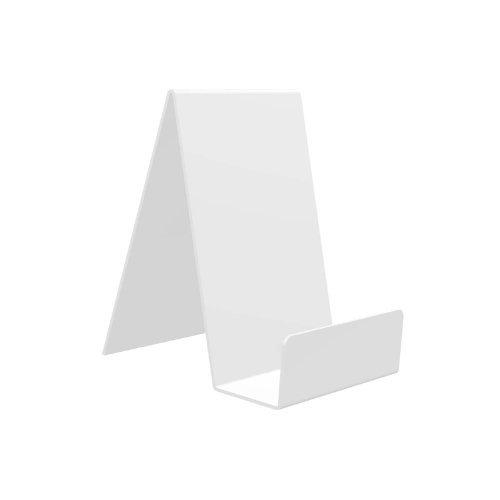 Displaypro–Marcos 5x tamaño mediano blanco acrílico función atril, para sujetar libros, teléfonos, hondos y más.–envío gratuito.
