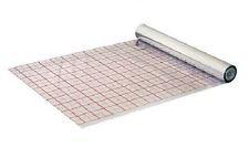 100 m² Rasterfolie Fußbodenheizung mit Verlegeraster Alufolie o. Dämmung 105 my
