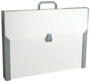 Aristo - Valigetta da trasporto in plastica, formato A3, per supporti da disegno Aristo, colore: Beige/Grigio