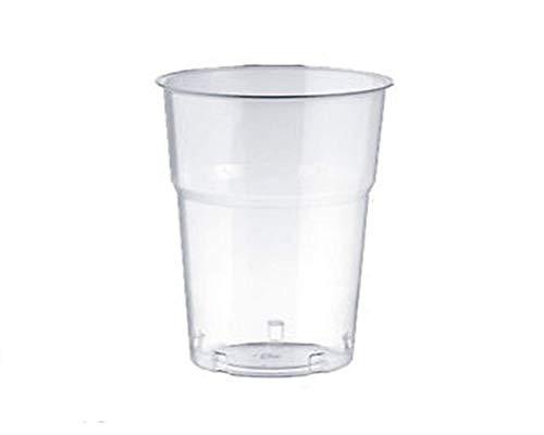 Palucart® PZ 300 BICCHIERI IN PLASTICA 200cc PER ACQUA BEVANDE COCKTAIL GRANITE FRAPPE' PLASTIC CUPS BICCHIERE RIGIDO