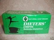BOX NATURAL LEAF BRAND DIETER DRINK TEA 1.5 OZ FOR MEN AND WOMEN