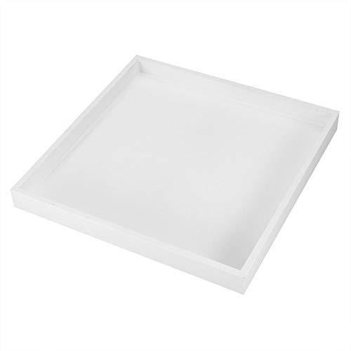 Eastbuy Tablett - Mehrzweck-Tablett Desktop Storage Organizer Obst Organizer Valet Tablett for Schmuck Lebensmittel Kosmetik (weiß) (Obst-desktop-organizer)
