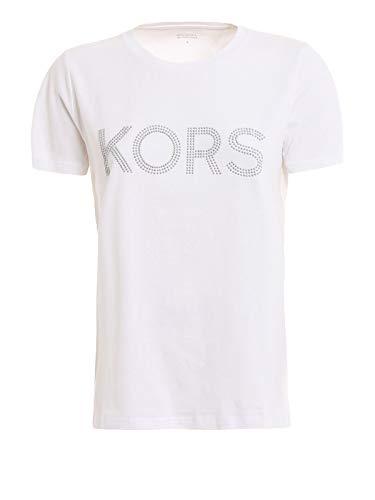 Michael Kors Michael by Damen Mh85m2y97j100 Weiss Baumwolle T-Shirt