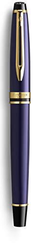 Waterman Expert - Penna stilografica, colore: Blu 18K M