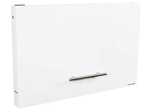 anytime-box - faltbarer, sehr flacher und dezenter Paketkasten (Variante weiß RAL 9016) - Paketbriefkasten für große Pakete bis 52 x 38 x 36 cm