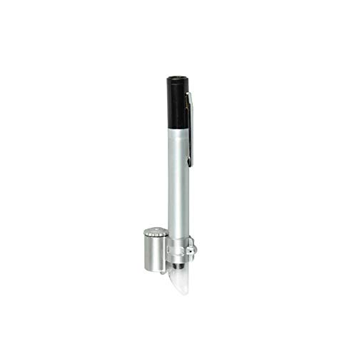 2 Lente per Microscopi Tascabili Illuminata A LED 5X con Lente di Ingrandimento. Lente Portatile