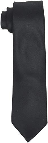 SELECTED HOMME Herren SLHNEW Plain TIE 7CM NOOS B Krawatte, Schwarz Black, One Size Plain Black Tie