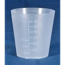 Medicine Measure Pot 60ml x 50. Polythene. Autoclavable.