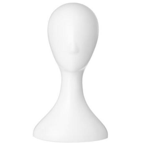 Bluelover Femelle Mannequin en Plastique Perruque Tête De Cheveux Modèle Stand 2 Couleurs-Blanc