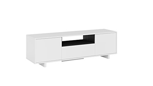 Habitdesign 0G6631BO - Mueble de comedor tv moderno , Color blanco brillo...