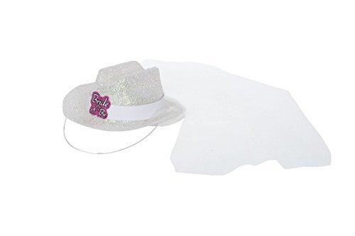 Uns Dessertteller Cowboy-Hut one size weiß/rosa
