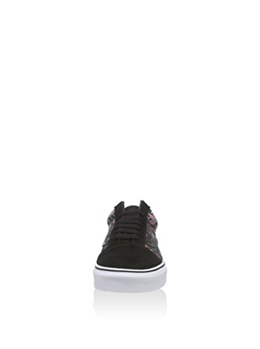 Vans U Authentic Black Bloom, Baskets Basses Mixte Adulte Black/true white