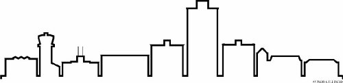 Aurora Illinois (INDIGOS UG - Wandtattoo Wandsticker Wandaufkleber Aufkleber - Wandaufkleber f1243 Skyline Stadt - Aurora Illinois (USA - United States) Design 4-180x41 cm - schwarz - Dekoration Küche Bad Büro Hotel)