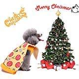 Coppthinktu Hunde-Pizza-Kostüm für Halloween, Pizza und Haustiere, super lustige Pizza, Small, Mehrfarbig