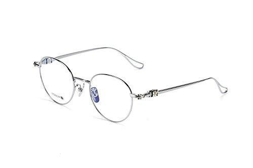 Reines Titan Brillengestell superleichte Silberne Schmuckbrillen die Persönlichkeit beleben alte Sitten 100, um eine kurzsichtige Fassung für den Stilschüler zu nehmen