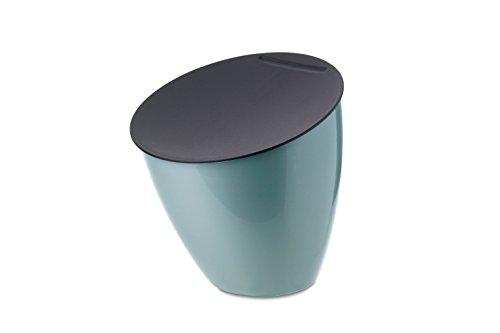 MEPAL Abfallbehälter Calypso Plastik, Nordic Grün, 17.5 x 18.4 cm, 1 Einheiten
