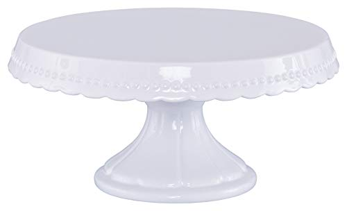 RBV Birkmann, 441415 Tortenplatte Vintage, Keramik, ∅ 23 cm, Weiß