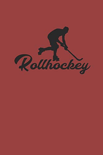 ROLLHOCKEY: Notizbuch Hockey Notebook Roller Journal 6x9 kariert Journal squared