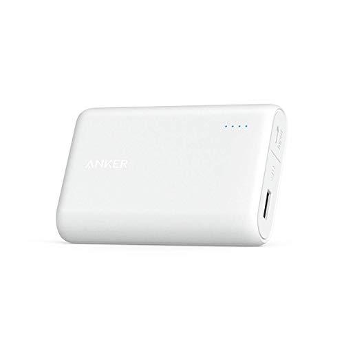 Anker PowerCore 10000mAh Powerbank externer Akku, extra kompakt für iPhone X 8 8Plus 7 6s 6Plus, iPad, Samsung Galaxy und weitere Smartphones (Weiß) (Pack 5s Iphone Juice Air Mobile)