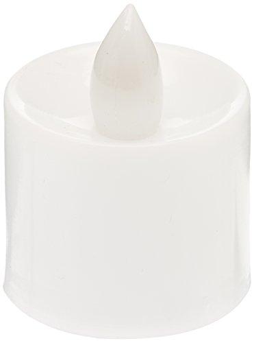 Olayer sans flamme batterie de Noël à LED bougies à lumière vacillante Ambre Bougies chauffe-plat Lot de 48