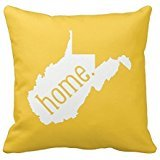 West Virginia Home State Throw Pillow Cover Cotton Pillowcase Cushion Cover 20 X 20