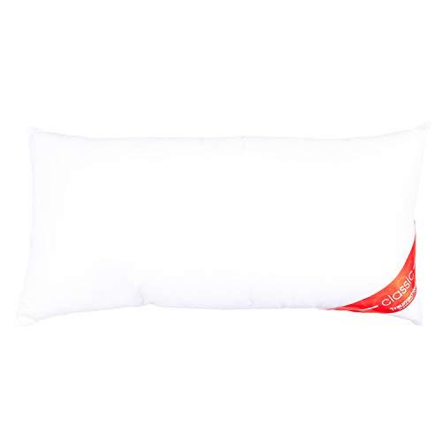 Traumschloss Kopfkissen Classic Faserkissen | Waschbar, pflegeleicht, mit bauschiger Softfaserfüllung und superleichtem Microfaserbezug | 40 x 80cm