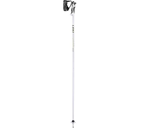 LEKI Damen Skistock Fine S, Base Color: White/Design: Pearl White-Green-Anthr, 105 cm