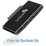 Surfacekit Kartenleser für Surface Go, Microsoft Surface Go Hub mit HDMI-Unterstützung bis zu 4K/2K bei 30 Hz, 2 USB 3.0 Hohe Übertragungsrate, SD/Micro SD-Kartenleser & TF-Steckplatz für Pen Drive