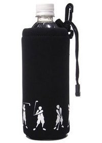 proactive-sports-snbh001-blk-neoprene-bottle-holder-with-golfer-in-black-by-pro-active